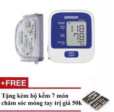 Giá Bán May Đo Huyết Ap Omron Hem 8712 Trắng Tặng Bộ Đồ Lam Mong Tay Chan 7 Mon Omron Hà Nội