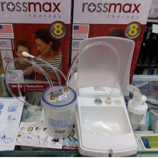 Máy hút rửa dịch mũi xông khí dung 2 trong 1 ROSSMAX USA