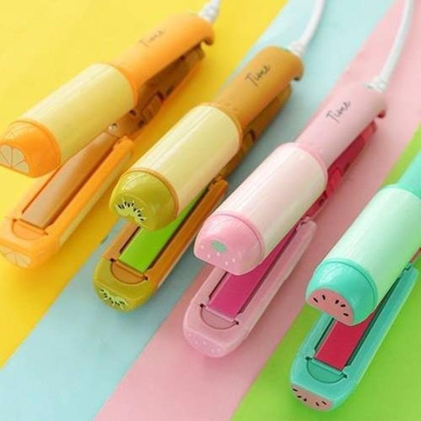 Máy là tóc mini 2 Chức Năng 2in1 Uốn & Duỗi Kemier - máy làm tóc mini (giao màu ngẫu nhiên)