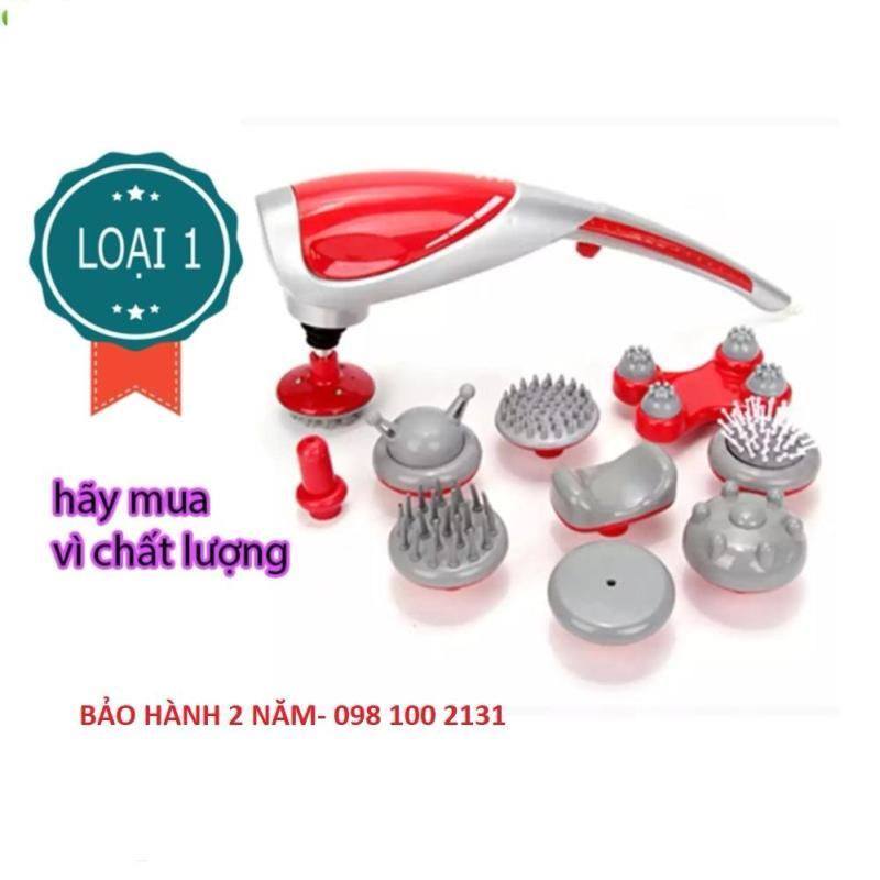 Máy massa cầm tay 10 đầu King massager (Đỏ) _ Hàng nhập khẩu