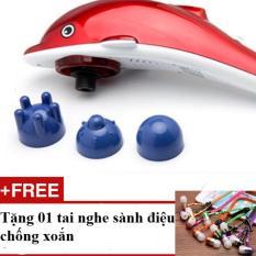 May Massage Lưng 3 Đầu Cầm Tay Ca Heo Tặng 01 Tai Nghe Rẻ