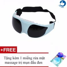 Hình ảnh Máy mát-xa mắt Verygood -TS0816 + Tặng kèm 1 miếng rửa mặt massage trị mụn đầu đen