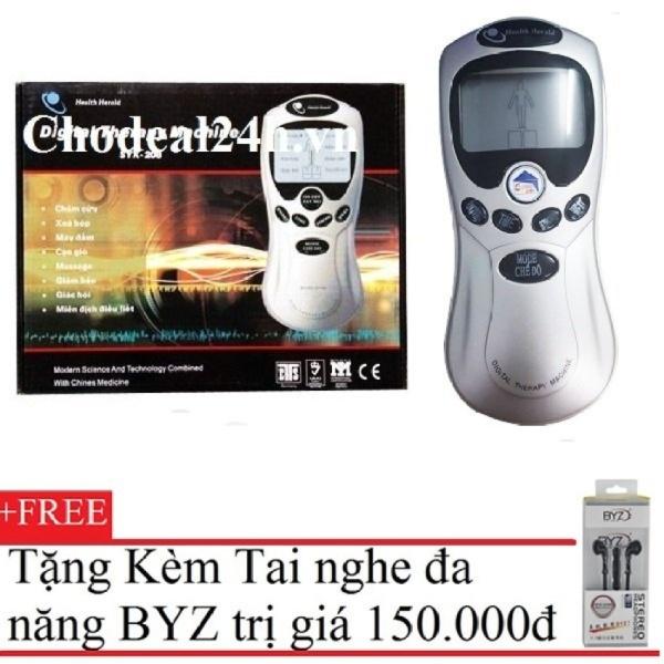 Máy mát-xa trị liệu Health Herald SYK-208 (Xám) + Tặng Tai Nghe BYZ S389 cao cấp