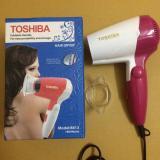 Ôn Tập May Sấy Toc Du Lịch Mini Gấp Gọn 3 Cấp Độ Sấy Toshiba 8813 1800W Trắng Phối Hồng