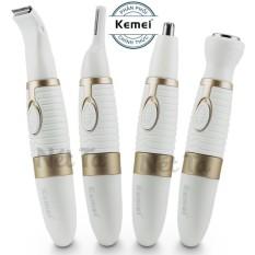 Hình ảnh Máy tỉa lông mũi, râu, lông mày đa năng 4in1 dùng pin Kemei KM-PG500 - Hãng phân phối chính thức