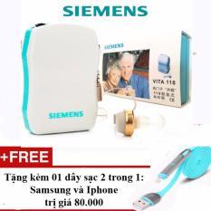 Ôn Tập Tốt Nhất May Trợ Thinh Siemens Vita 118 Tặng 01 Day Sạc Điện Thoại 2 Trong 1