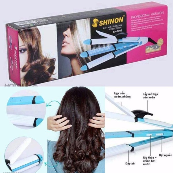 Máy uốn tóc SHINON-NOVA 4in1 hàng cao cấp-BBVL
