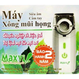 Máy xông mũi họng siêu âm cầm tay MAXVI (Trắng) thumbnail