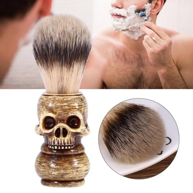 mens grooming tool makeup skull head barber salon beard shaving