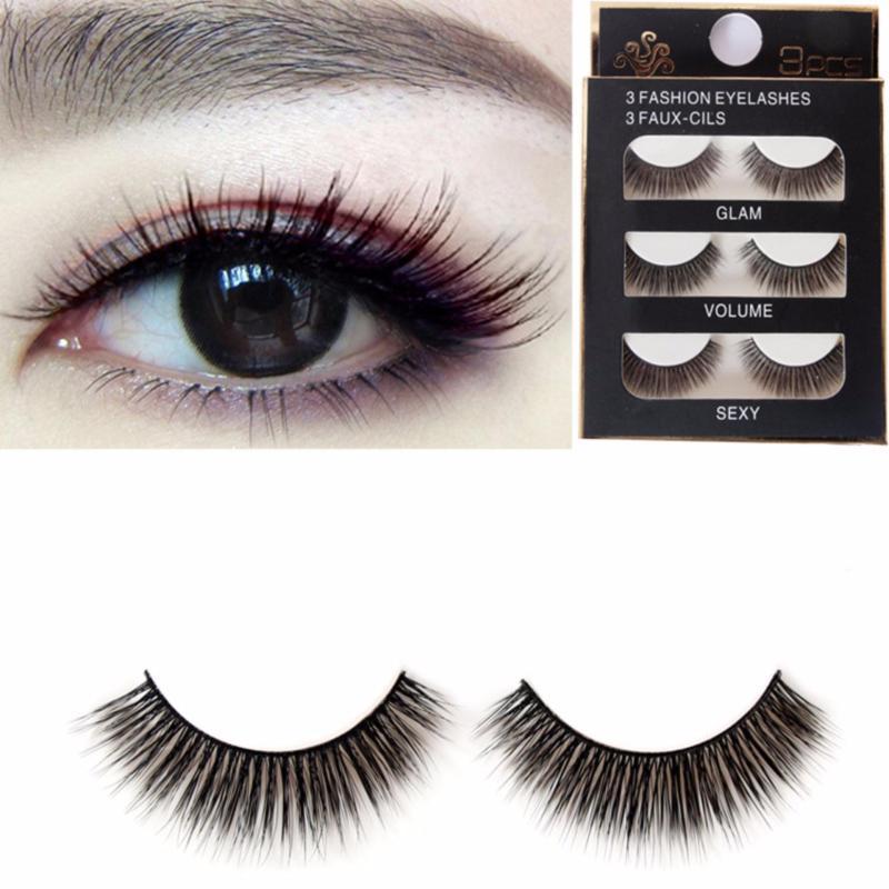 Mi Giả Lông Chồn 3D 3PCS 3 Fashion Eyelashes 3 Faux-Cils 3D/17(3 cặp) nhập khẩu