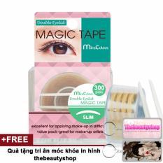 Miếng dán kích mi trong suốt mềm mại MiraCulous Magic Tape Hàn Quốc (300 miếng)(Nhỏ) + Tặng móc khoá thebeautyshop - Hàng chính hãng tốt nhất