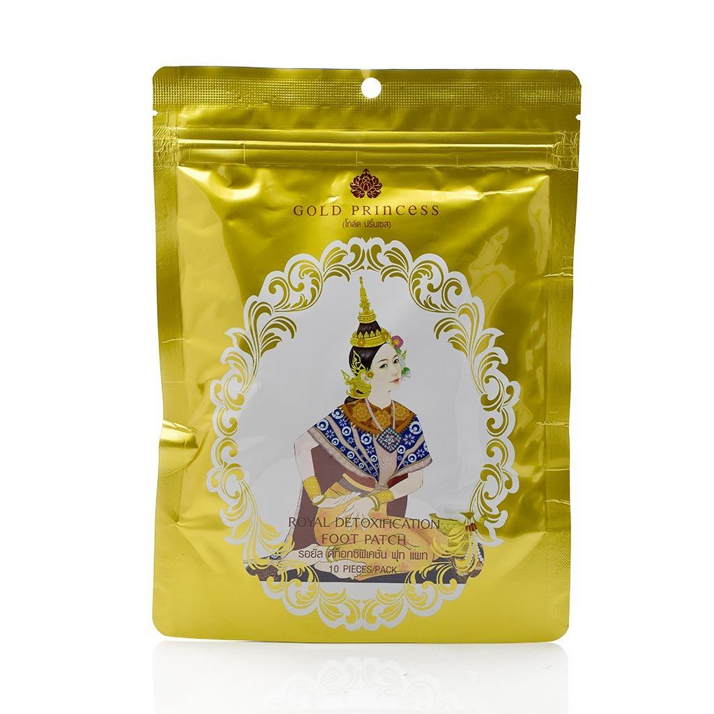 Miếng dán thải độc tố chân Gold Princess Royal giúp ngủ ngon hơn - Thái lan ( Check QR code ) nhập khẩu