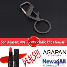 Chiết Khấu Moc Khoa Đeo Balo New4All Hợp Kim Cao Cấp Son Agapan 01 Pit A Pat Đỏ Cam