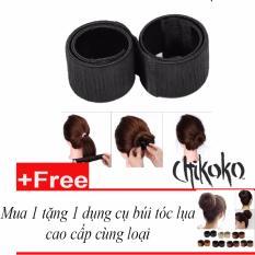 Hình ảnh Mua 1 tặng 1-Búi tóc lụa Chikoko cao cấp( Màu nâu)