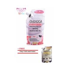 Muối tẩy tế bào chết làm mềm da Osaka Yogurt + tặng kèm 1 Muối sữa bò Osaka cùng khối lượng