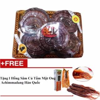 Nấm Linh Chi Hàn Quốc Thượng Hạng 1 Kg (5 lá) - Tặng 1 hồng sâm củ tẩm mật ong Achimmadang Hàn Quốc thumbnail