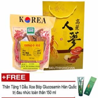 Nấm Linh Chi Thái Lát Hàn Quốc Cao Cấp 0.5kg ( Nấm sạch ) + Tặng 1 hộp dầu xoa bóp khớp Glucosamine 150ml thumbnail