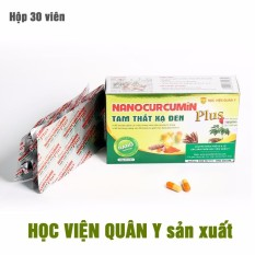 Nano Curcumin Tam thất xạ đen Plus HVQY hỗ trợ dạ dày, hoá trị xạ trị hộp 30 Viên nhập khẩu