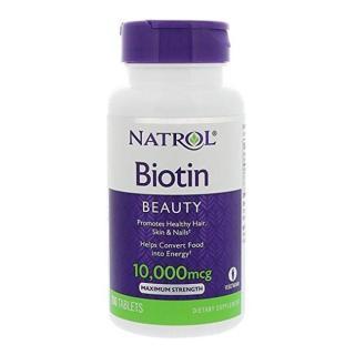Natrol Biotin 10,000mcg hỗ trợ kích thích mọc tóc dày đẹp 100 viên thumbnail