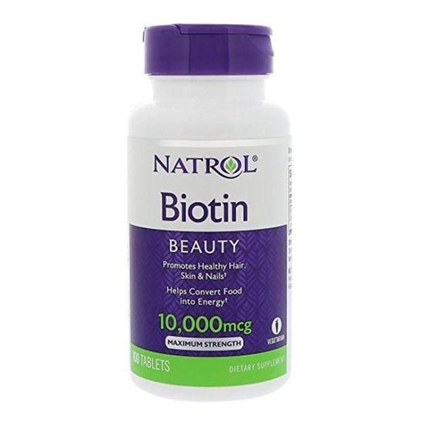 Natrol Biotin 10,000mcg hỗ trợ kích thích mọc tóc dày đẹp 100 viên