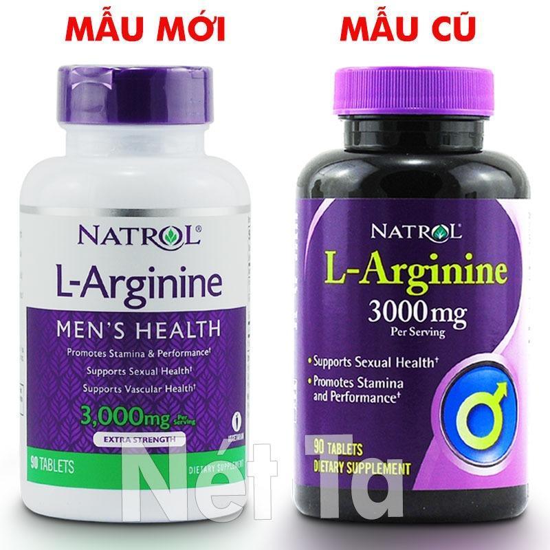 Natrol L-Arginine 3000mg hộp 90 viên - Mỹ - Hỗ trợ sức khỏe tình dục, tăng cường sức mạnh nam giới