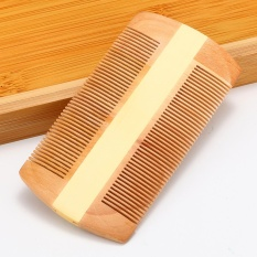 Natural Handmade Sandalwood Pocket Anti-Static Comb Beard Mustache Hair Brush - intl