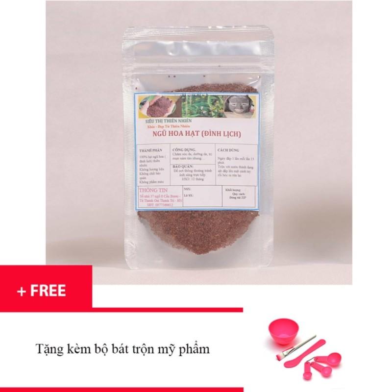 Ngũ hoa hạt đắp mặt hai lúa 100g + Tặng kèm bộ bát trộn mặt nạ trị giá 35 ngàn đồng -HP - Kmart nhập khẩu