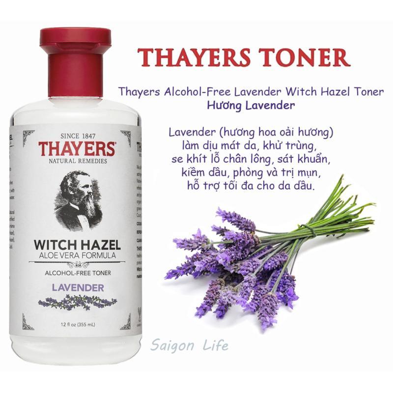 Nước Hoa Hồng Không Cồn Thayers Witch Hazel Lavender (Oải Hương) 355ml (Dành cho da dầu, da có mụn) cao cấp