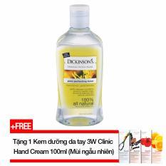 Nước hoa hồng DICKINSONS Original Witch Hazel Pore Perfecting Toner 473ml (Dành cho da dầu nhờn, da mụn) + Tặng 1 Kem dưỡng da tay 3W Clinic Hand Cream 100ml (mùi ngẫu nhiên)