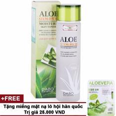 Nước hoa hồng dưỡng ẩm và mềm da Aloe Stem-Rich Skin Hàn Quốc 150ml + Tặng miếng mặt nạ trắng da lô hội Hàn Quốc 23ml tốt nhất