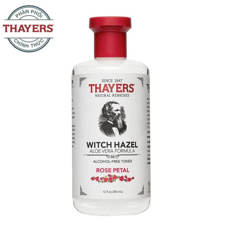 Nước hoa hồng không cồn THAYERS Alcohol-Free Rose Petal Witch Hazel Toner 355ml (Hương hoa hồng - Dành cho da khô, da thường) cao cấp