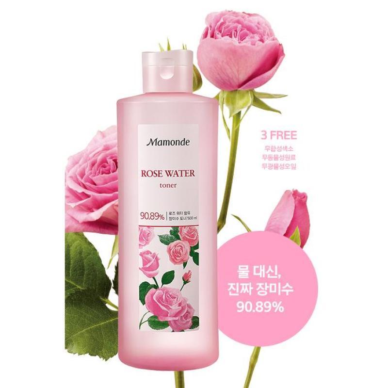 Nước hoa hồng (250ml) Mamonde Rose Water Toner 90,89% nước hoa hồng (Tách set) cao cấp