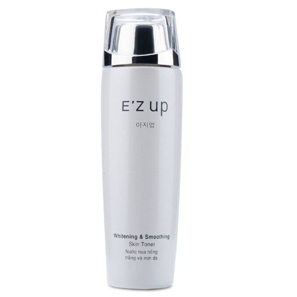 Nước hoa hồng trắng và mịn da EZup Whitening Smoothing Skin Toner 120ml Tặng 01 hộp Bông tẩy trang Jeana 100M