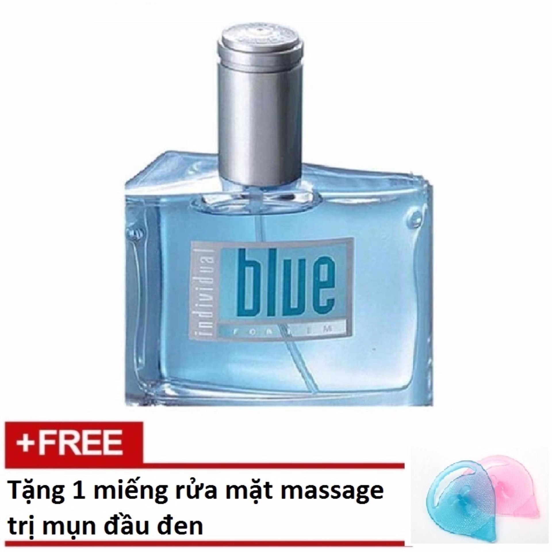 Nước hoa nam Avon Blue for Him 50ml + Tặng 1 miếng rửa mặt massage trị mụn đầu đen