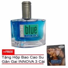 Nước hoa nam Jolie Dion Blue For Him Eau de toilette 60ml + Tặng Bao Cao Su Gân Gai Innova 3 Bao (Đen)
