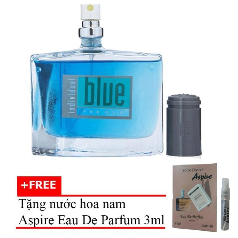 Nước Hoa Nam Cá Tính Jolie Dion Blue For Him Eau De Parfum 60ml + Tặng Nước Hoa Nam Aspire Eau De Toilette 3ml