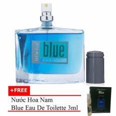 Nước hoa nam cá tính Jolie Dion Blue For Him Eau de Parfum 60ml + Tặng nước hoa nam Blue eau de toilette 3ml