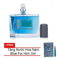 Nước hoa nam cá tính Jolie Dion Blue For Him Eau de Parfum 60ml + Tặng Nước hoa nam Blue For Him eau de parfum 5ml