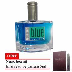 Nước hoa nam cá tính Jolie Dion Blue For Him Eau de Parfum 60ml + Tặng Nước hoa nữ Imari eau de parfum 5ml
