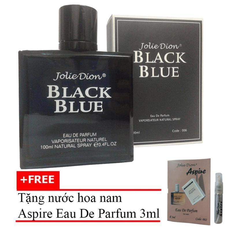 Nước hoa nam Jolie Dion Black Blue Eau de parfum 100ml + Tặng Nước hoa nam Aspire eau de toilette 3ml