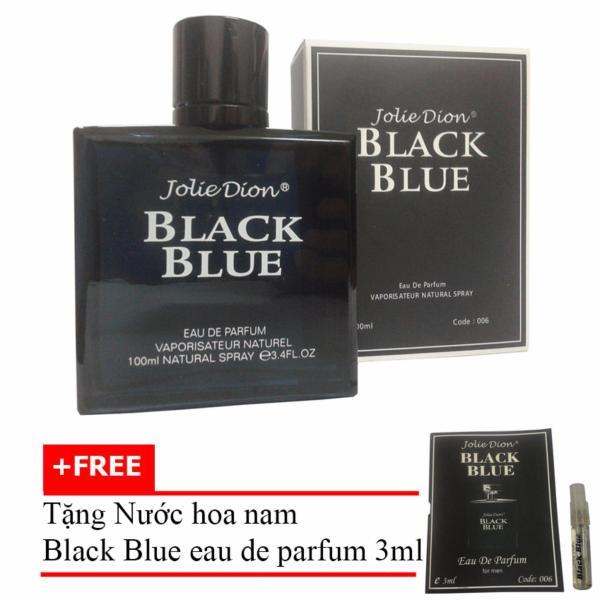 Nước hoa nam Jolie Dion Black Blue Eau de parfum 100ml + Tặng Nước hoa nam Black Blue eau de parfum 3ml