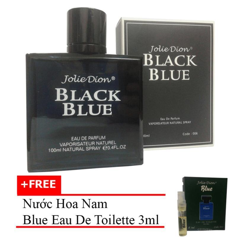 Nước hoa nam Jolie Dion Black Blue Eau de parfum 100ml + Tặng nước hoa nam Blue eau de toilette 3ml