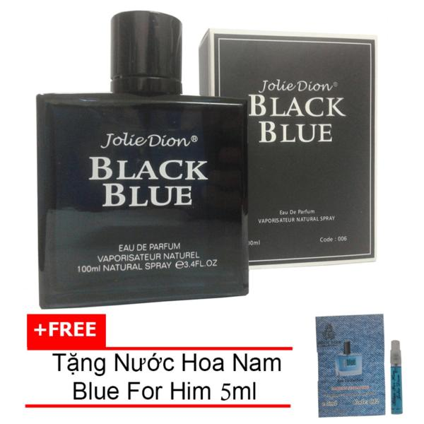 Nước hoa nam Jolie Dion Black Blue Eau de parfum 100ml + Tặng Nước hoa nam Blue For Him eau de parfum 5ml