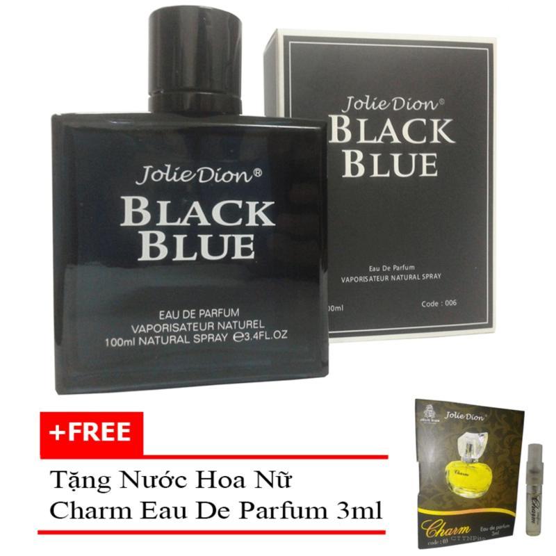 Nước hoa nam Jolie Dion Black Blue Eau de parfum 100ml + Tặng nước hoa nữ Charm eau de parfum 3ml