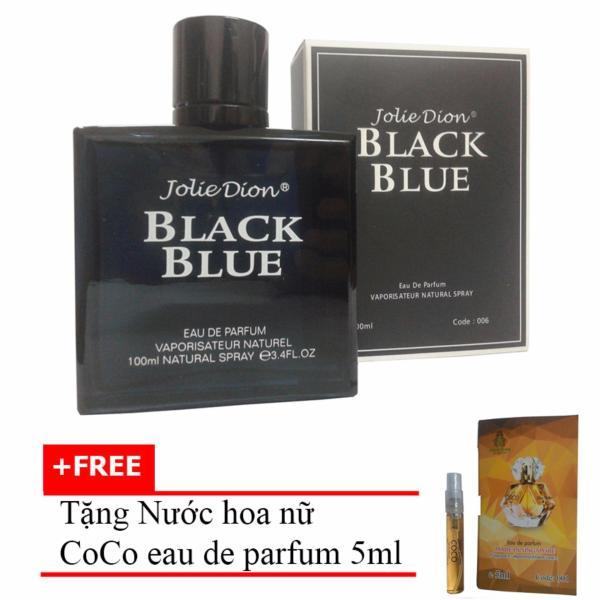 Nước hoa nam Jolie Dion Black Blue Eau de parfum 100ml + Tặng Nước hoa nữ CoCo eau de parfum 5ml