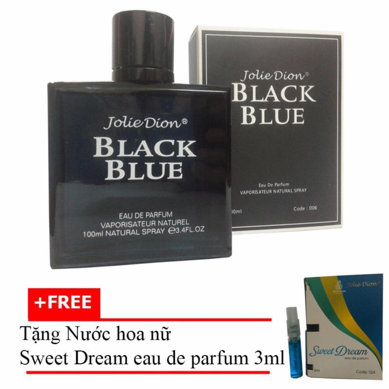 Nước hoa nam Jolie Dion Black Blue Eau de parfum 100ml + Tặng Nước hoa nữ Sweet Dream eau de parfum 3ml