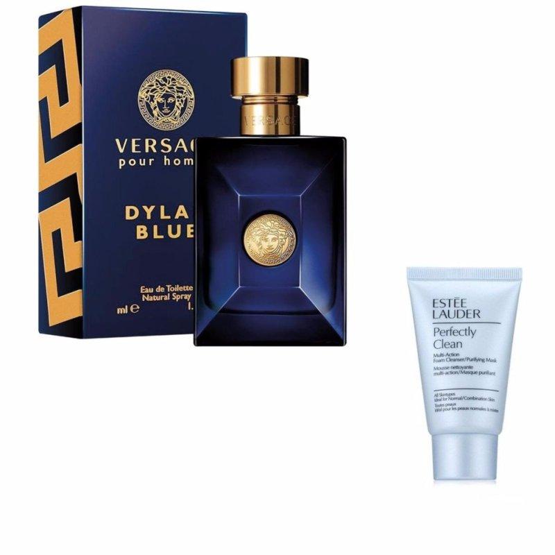 Nước hoa nam Versace Dylan Blu Pour Homme Eau de Toilette 100 ml + Tặng 01 sữa rửa mặt Estee Lauder 30 ml