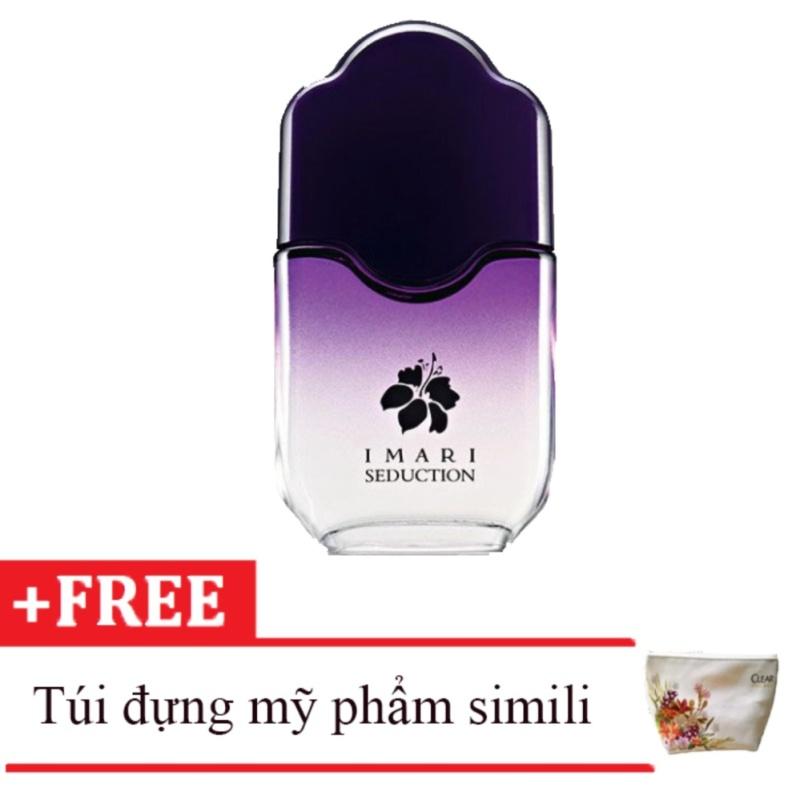 Nước hoa nữ Avon Imari Seduction dẹp 50ml tặng kèm túi đựng mỹ phẩm da simili N0.1