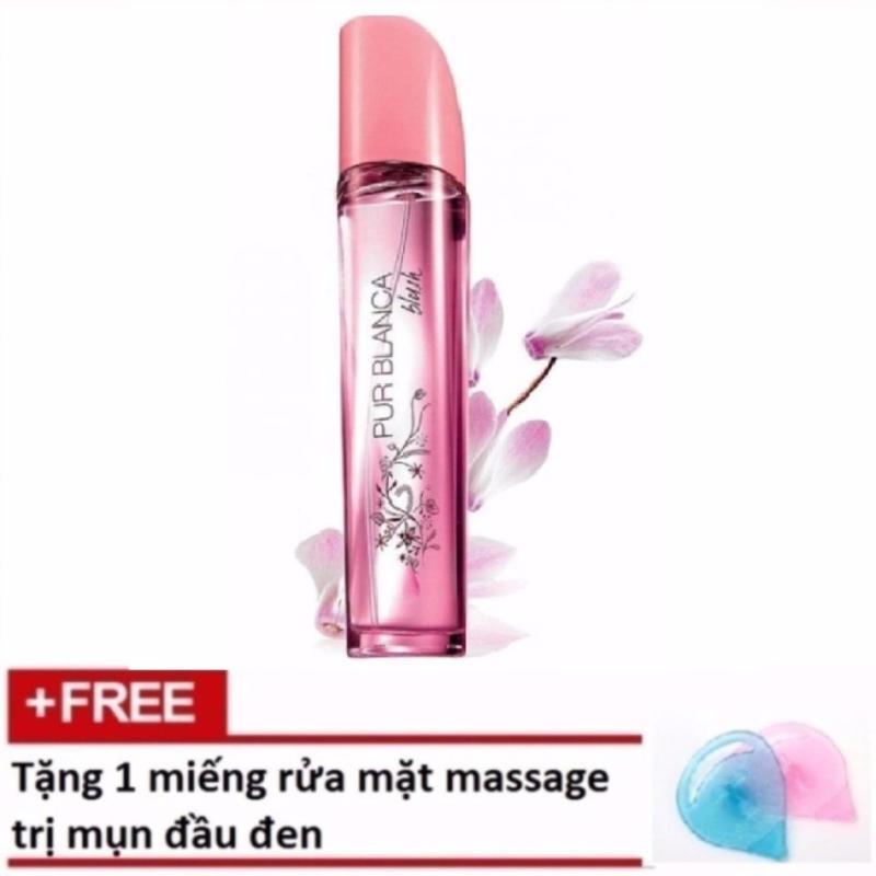 Nước hoa nữ AVON PUR BLANCA BLUSH 50ML + Tặng 1 miếng rửa mặt massage trị mụn đầu đen