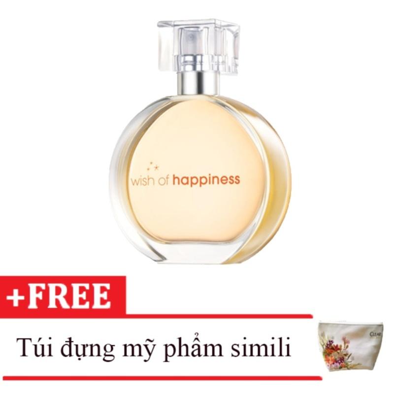 Nước hoa nữ Avon Wish of Happiness 50ml tặng kèm túi đựng mỹ phẩm da simili